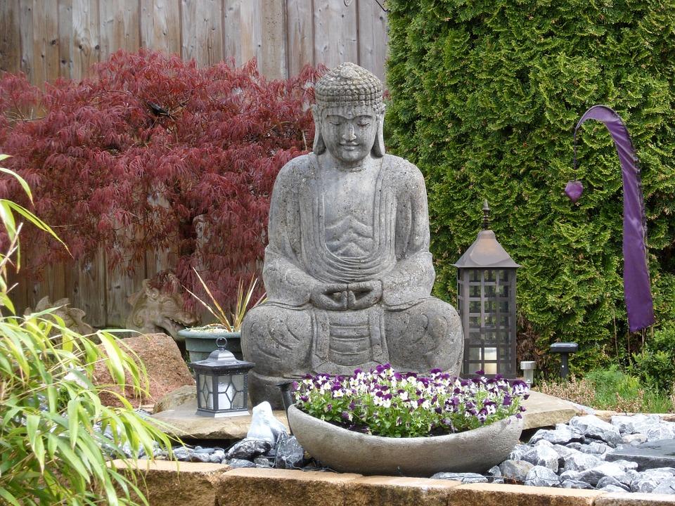 jardin japonais bouddha