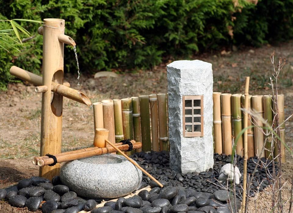 jardin japonais fontaine