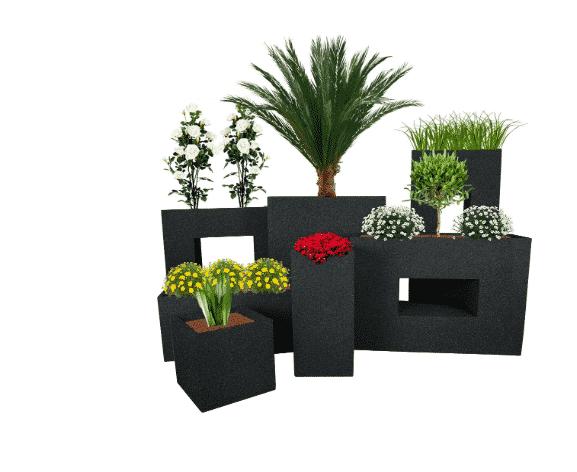 Pot de fleur CUBE Jardinière Granit