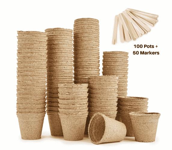 Pots biodégradables 100 pots de plantation en fibres