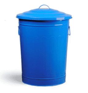 Poubelle d'extérieur en métal recyclable pour la protection de l'environnement