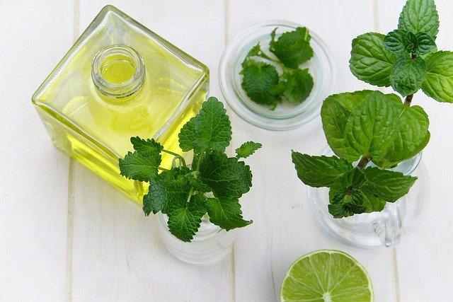 huile de massage à la menthe